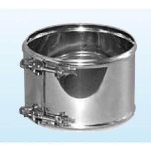 Collier de fixation vissé pour cheminée inox double paroi isolé 25 mm