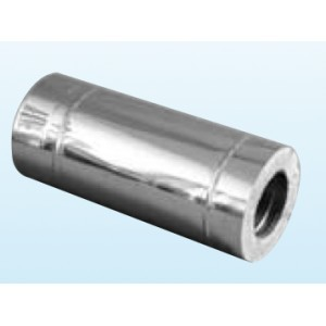cheminée inox L540mm ép. 0,6mm double paroi isolé 25mm