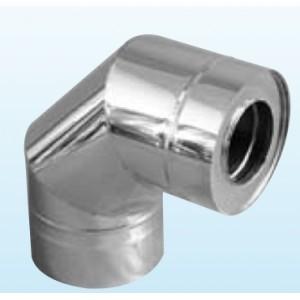 Coude 90° pour cheminée inox double paroi isolé 25 mm